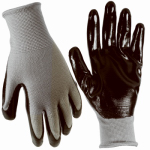 Magid Glove & Safety Mfg T319TM Extra Grip Glove, Nitrile Palm, Black & Gray, M