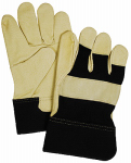 Magid Glove & Safety Mfg TB524ETL Supple Grain Pigskin Glove, Large, Black & Tan, Tough