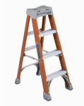Louisville Ladder FS1504 4-Ft. Step Ladder, Fiberglass, Type IA, 300-Lb. Duty Rating