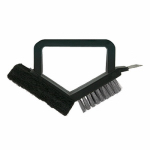 Blue Rhino Global Sourcing 00338TV Barbecue Brush & Pad, Steel Bristles