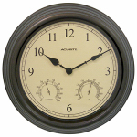 Chaney Instrument 01063A1SB Clock, Indoor/Outdoor, Copper Patina, 15-In.