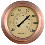 Chaney Instrument 02321A02 Thermometer, Outdoor, Brushed Copper, 8-In.