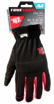 Big Time Products 9082-23 High-Performance Work Gloves, Black & Red, Medium