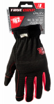 Big Time Products 9083-23 High-Performance Work Gloves, Black & Red, Large
