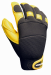 Big Time Products 9913-23 Goatskin Hybrid Gloves, Polyurethane Reinforced, Large
