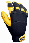 Big Time Products 9914-23 Goatskin Hybrid Gloves, Polyurethane Reinforced, XL