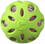 Petmate 47014 Dog Toy, Crackle Head Ball, Medium