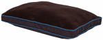 Petmate 80130 Pet Pillow, Coffee Bean & Dark Pebble Blue, 29 x 40-In.