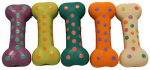 "Multipet International 61024 4""PolkaDot Bone Dog Toy"