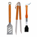 Blue Rhino Global Sourcing 00325TV BBQ Tool Set, Wood & Stainless Steel, 3-Pc.
