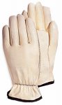 Magid Glove & Safety Mfg 6037TM Leather Work Gloves, White Goatskin, Medium