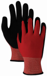 Magid Glove & Safety Mfg T1000TLXL Comfort Flexible or Flex Gardening Gloves, Red & Black, L/XL