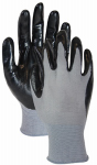 Magid Glove & Safety Mfg T319TL3 Extra Grip Glove, Nitrile Palm, Black & Gray, Size L, 3-Pk.