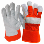 Magid Glove & Safety Mfg TB245DPT Work Gloves, Split Leather, Gray, L