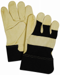 Magid Glove & Safety Mfg TB524ETM Leather Palm/Thumb Glove, Black & Tan, Medium