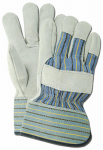 Magid Glove & Safety Mfg TB625ET Leather Palm Gloves, Pearl Gray, L