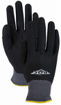 Magid Glove & Safety Mfg ROC15TL Fully Coated Nitrile Palm Glove, Black, Large