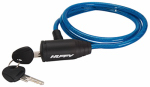 Huffy Bicycles 00233LK Bicycle Lock, Cable, Blue Translucent