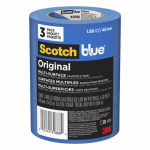 3M 2090-48EVP Blue Painter's Tape, 3-Roll Pk., 60-Yds. Each
