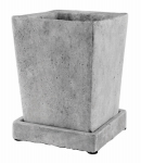 Syndicate Home & Garden 7910-04-901 Tapered Square Cement Planter, Slate, 4.5-In. x 4.5-In. x 5-In.