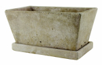Syndicate Home & Garden 7911-04-901 Weathered Cement Planter, Slate, 4.25-In. x 9.5-In.