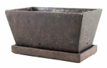 Syndicate Home & Garden 7911-04-902 Weathered Cement Planter, Brown, 4.25-In. x 9.5-In.