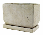 Syndicate Home & Garden 7913-04-901 Weathered Rectangle Cement Planter, Slate, 5-In. x 8-In.