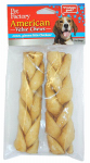 Pet Factory 24256 Dog Treats, American Beefhide Braid, 6-7-in., 2-Pk.