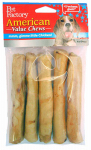 Pet Factory 24750 Dog Treats, American Beefhide Chicken-Flavor Chip Roll, 5-Pk.