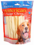 Pet Factory 28054 Dog Treats, American Beefhide Twist Sticks, 25-Pk.