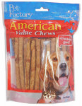 Pet Factory 28750 Dog Treats, American Beefhide Chicken-Flavor Munchie Roll, 40-Pk.