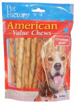 Pet Factory 28754 Dog Treats, American Beefhide Chicken-Flavor Twists, 25-Pk.