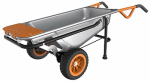 Positec Usa WG050 AeroCart Wheelbarrow & Dolly, 300-Lb. Capacity