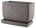 Syndicate Home & Garden 7913-04-902 Weathered Rectangle Cement Planter, Brown, 5-In. x 8-In.
