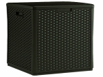 Suncast BMDB60 Deck Box Cube, Wicker-Look Resin, 60-Gal.