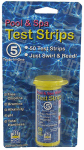 Jed Pool Tools 00-IT490 Pool Test Strips, 5-Factor, 50-Ct.