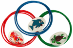 Water Sports 81055-7 3PK Swim Through Ring