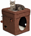 Midwest Metal Products 137-BR Curious Cube Cat House, 15.5 x 15.5-In.