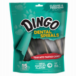 United Pet Group DN-99108PDQ Dingo15PK Dental Spiral