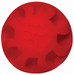 American Distribution & Mfg 9505707 Dog Toy, Red Swirl Ball, 7-In.