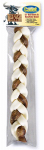 Ims Trading 07543 Dog Treat, Braided Rawhide Bully Stick, 12-In.