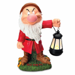 Woods International 4092 Garden Statue with Solar Lantern, Grumpy, 16-In., Must Purchase in Quantities of 2