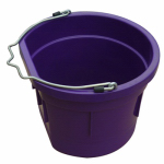 Qingdao Huatian Hand Truck MR8QP/FSB-PURP Utility Bucket, Flat Sided, Purple Resin, 8-Qts.