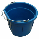 Qingdao Huatian Hand Truck MR8QP/FSB-TEAL Utility Bucket, Flat Sided, Teal Resin, 8-Qts.