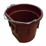 Qingdao Huatian Hand Truck MR20QTP/FSB-DK RED Utility Bucket, Flat Sided, Deep Red Resin, 20-Qts.