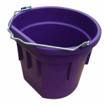 Qingdao Huatian Hand Truck MR20QP/FSB-PURP Utility Bucket, Flat Sided, Purple Resin, 20-Qts.