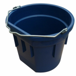 Qingdao Huatian Hand Truck MR20QTP/FSB-DK BLUE Utility Bucket, Flat Sided, Dark Blue Resin, 20-Qts.