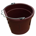 Qingdao Huatian Hand Truck MR8QP/FSB-DK RED Utility Bucket, Flat Sided, Deep Red Resin, 8-Qts.