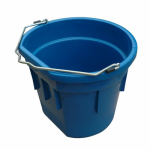 Qingdao Huatian Hand Truck MR20QP/FSB-TEAL Utility Bucket, Flat Sided, Teal Resin, 20-Qts.