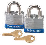 Master Lock 3T 2-Pack 1-1/2 Inch Laminated Keyed-Alike Padlock